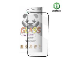 UNIQTOUGH iPhone 12 /iPhone 12 Pro (6.1吋)王者熊貓高透光耐衝擊強化玻璃保護貼 黑色