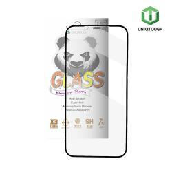 UNIQTOUGH iPhone 12 Pro Max (6.7吋)王者熊貓高透光耐衝擊強化玻璃保護貼 黑色