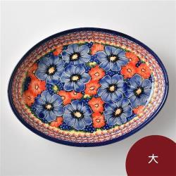 波蘭陶 仲夏紫蜜系列 橢圓深盤 大 波蘭手工製