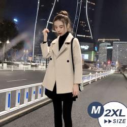 【LANNI 藍尼】現貨 顯高柔軟舒適毛呢大衣(西裝/毛呢/外套/大衣)