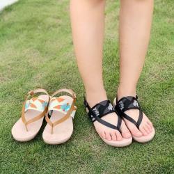 【WYPEX】預購/運動風針織帶軟底夾腳涼鞋•兩色