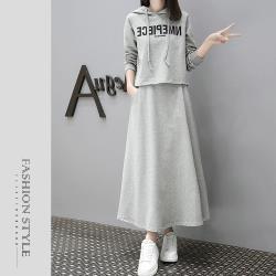 【GF 快時尚】簡約連帽文字造型套裝 (M~2XL)