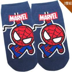 兒童襪子漫威英雄蜘蛛人童襪短襪直版襪3入組15-22cm 411609【卡通小物】