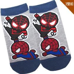 兒童襪子漫威英雄蜘蛛人童襪短襪直版襪3入組15-22cm 411852【卡通小物】