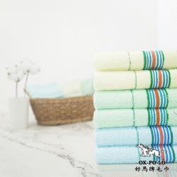 【OKPOLO】台灣製超激多變色紗吸水毛巾