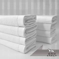 【OKPOLO】台灣製造純白毛巾12入組