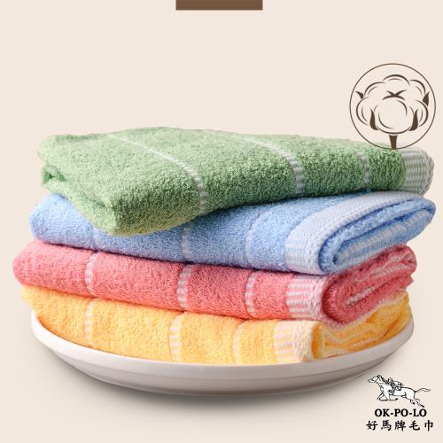 【OKPOLO】台灣製造蕾絲吸水毛巾-12入組
