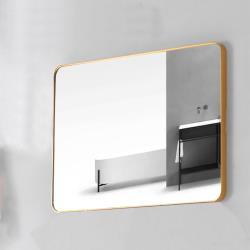 Aberdeen 鋁框鏡系列-四方圓角鏡-香檳金 80x60cm