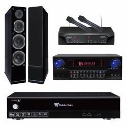 金嗓 CPX-900 A5伴唱機 4TB+KAR MEN X8+CHIAYO NDR-2120+AUSTIN AS-168(黑)