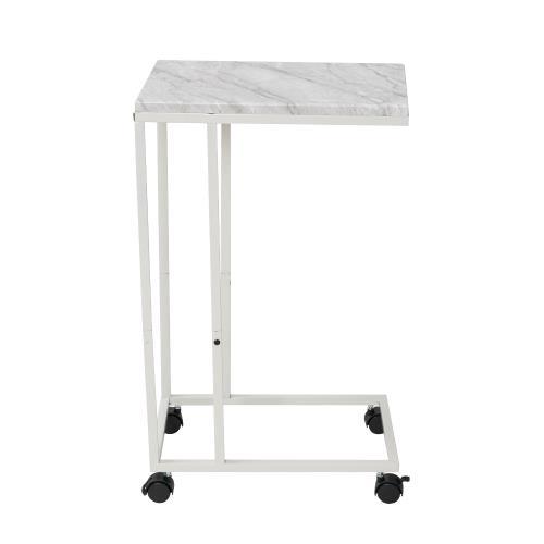 樂嫚妮附輪ㄈ型床邊桌茶几桌