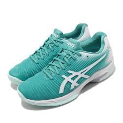 Asics 網球鞋 Solution Speed FF 女鞋 亞瑟士 緩震 透氣 輕量 亞瑟膠 綠 白 1042A002300 [ACS 跨運動]