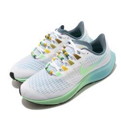 Nike 慢跑鞋 Zoom Pegasus 37 運動 女鞋 氣墊 避震 路跑 健身 小飛馬 球鞋 白 綠 CZ8692134 [ACS 跨運動]
