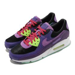 Nike 休閒鞋 Air Max 90 QS 復古 男鞋 經典鞋款 氣墊 球鞋穿搭異 材質拼接 紫 綠 CZ5588001 [ACS 跨運動]