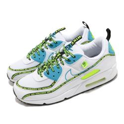 Nike 休閒鞋 Air Max 90 SE 運動 男女鞋 經典 氣墊 舒適 避震 串標 情侶穿搭 白 黃 CZ6419100 [ACS 跨運動]