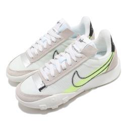 Nike 休閒鞋 Waffle Racer 運動 女鞋 經典款 鬆餅外底 復古 穿搭 球鞋 白 黃 DC4467100 [ACS 跨運動]