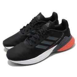 adidas 慢跑鞋 Response SR 運動休閒 男鞋 愛迪達 路跑 緩震 透氣 球鞋穿搭 黑 紅 FX3629 [ACS 跨運動]
