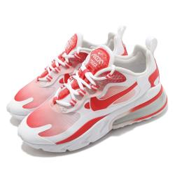 Nike 休閒鞋 Air Max 270 React 女鞋 氣墊 舒適 避震 簡約 球鞋 穿搭 白 紅 BV3387100 [ACS 跨運動]