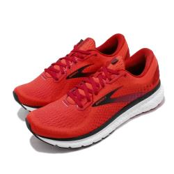 Brooks 慢跑鞋 Glycerin 18 運動 男鞋 路跑 緩震 DNA科技 透氣 健身 紅 黑 1103291D617 [ACS 跨運動]