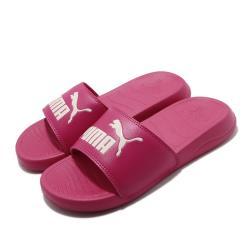 Puma 涼拖鞋 Popcat 20 套腳 女鞋 輕便 夏日 大logo 簡約 穿搭 粉 37227905 [ACS 跨運動]