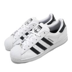 adidas 休閒鞋 Superstar 復古 低筒 女鞋 愛迪達 三葉草 貝殼頭 皮革鞋面 穿搭 白 黑 FX7480 [ACS 跨運動]