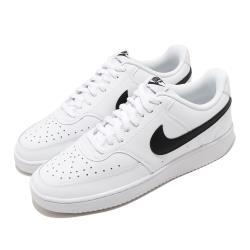 Nike 休閒鞋 Court Vision 運動 男鞋 基本款 舒適 簡約 皮革 球鞋 穿搭 白 黑 CD5463101 [ACS 跨運動]