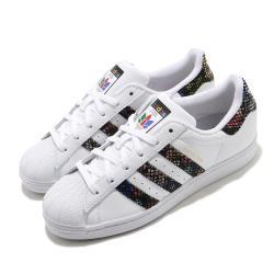 adidas 休閒鞋 Superstar 復古 低筒 女鞋 愛迪達 三葉草 貝殼頭 穿搭 白 黑 彩 FW3692 [ACS 跨運動]