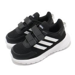 adidas 慢跑鞋 Tensaur Run I 童鞋 愛迪達 魔鬼氈 運動休閒 透氣 穿搭 小童 黑白 EG4142 [ACS 跨運動]