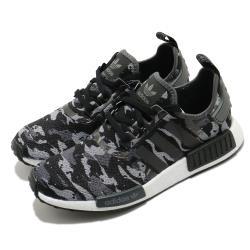 adidas 休閒鞋 NMD R1 襪套式 男鞋 愛迪達 三葉草 Boost底 穿搭 緩震 黑 灰 FZ0077 [ACS 跨運動]