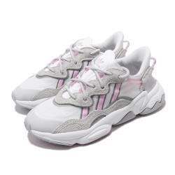 adidas 休閒鞋 Ozweego 老爹鞋 流行 女鞋 愛迪達 三葉草 反光 麂皮 球鞋穿搭 灰 粉 EG8729 [ACS 跨運動]