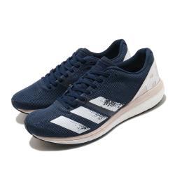 adidas 慢跑鞋 Adizero Boston 8 W 女鞋 愛迪達 路跑 波士頓 馬拉松 輕量 避震 藍 白 EH3134 [ACS 跨運動]