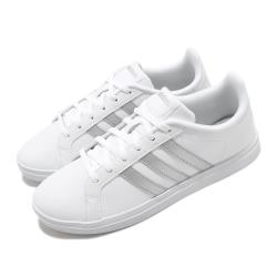 adidas 休閒鞋 Courtpoint 復古 低筒 女鞋 愛迪達 皮革鞋面 基本款 穿搭 白 銀 FW7376 [ACS 跨運動]