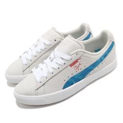 Puma 休閒鞋 Clyde 聯名 運動 男女鞋 基本款 簡約 情侶穿搭 超級瑪莉 白 藍 38019901 [ACS 跨運動]