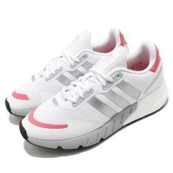 adidas 休閒鞋 ZX 1K Boost 運動 女鞋 愛迪達 三線 緩震 基本款 球鞋穿搭 白 銀 FY5654 [ACS 跨運動]