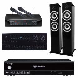 金嗓 CPX-900 A5伴唱機 4TB+BASA NOVA PA-7150+CHIAYO NDR-2120+TIKaudio S-6601(黑)