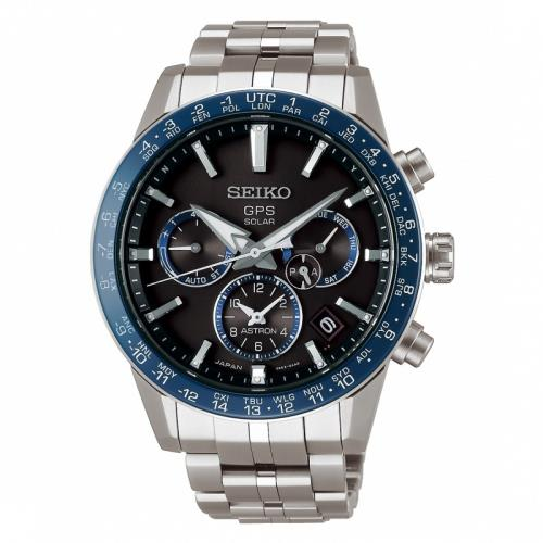 SEIKO精工 ASTRON GPS 5X53雙時區鈦金屬錶款(SSH001J1)42.9mm