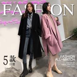 【GF 快時尚】韓系TOP熱銷保暖毛呢大衣-5款任選(S-2XL)