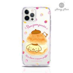 【Hong Man】三麗鷗系列 iPhone 12  Pro Max 6.7吋吊繩空壓手機殼套組 布丁狗 泡芙