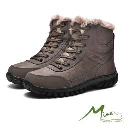 【MINE】真皮頭層牛皮防水抗寒機能戶外休閒登山鞋 棕
