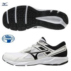 MIZUNO MAXIMIZER 23 男鞋 慢跑 健走 3E寬楦 避震 透氣 白黑【運動世界】K1GA210002