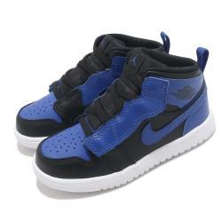 Nike 籃球鞋 Jordan 1 Mid ALT 童鞋 基本款 喬丹 魔鬼氈 簡約 小童 穿搭 黑 藍 AR6352077 [ACS 跨運動]