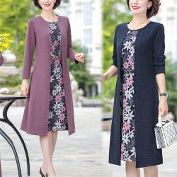 型-K.W.韓國 時裳韓風優雅假二件式洋裝
