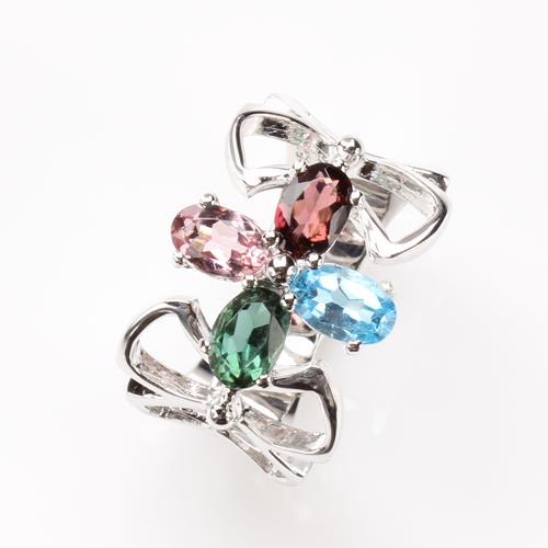 【寶石方塊】天然水晶戒指-925銀飾-小巧玲瓏/