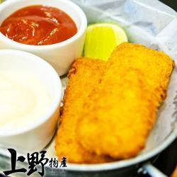 【上野物產】東港必吃酥脆蝦餅(300g±10%/10片/包) x8包