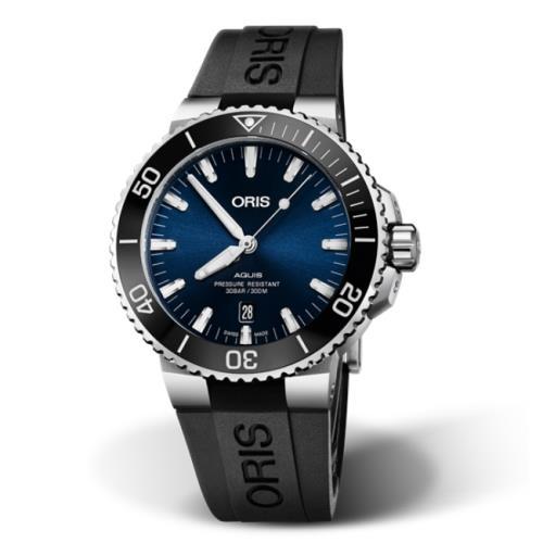 ORIS豪利時0173377304135-0742464EB/Aquis時間之海系列潛水腕錶/43.5mm/