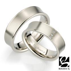 MASSA-G DECO系列 Double Ring Sware 鈦金對戒
