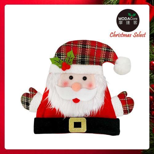 摩達客耶誕派對-超萌兒童格紋造型聖誕帽(聖誕老公公款)