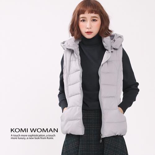 【KOMI】可拆式帽子鋪棉背心/