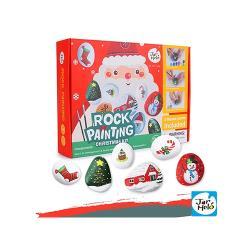 西班牙JoanMiro 原創美玩 兒童創意繪畫-石頭彩繪聖誕款