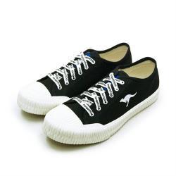 【KangaROOS】女 帆布厚底餅乾鞋 CRUST藍標系列(黑米 91270)