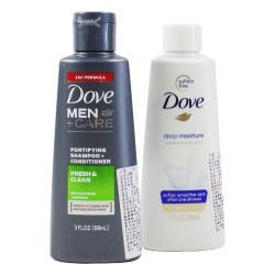 【美式賣場】Dove男士洗潤髮乳及保濕沐浴乳旅行組